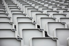 Gray seats. On the stand Royalty Free Stock Photography
