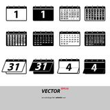 Gray Set calendar icons isolated on background. Modern flat pict Royalty Free Stock Photography