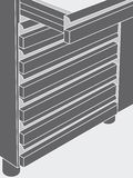 Gray set of drawers Royalty Free Stock Photography