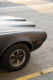 Gray Seventies Muscle Car Royalty Free Stock Photos