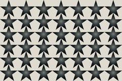 Gray Shaded Blurred Star Pattern noir sur l'illustration sans couture de fond blanc Conception moderne Peut être employé pour des illustration de vecteur