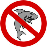 A gray shark with prohibitory sign Stock Image