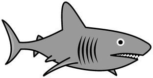 A gray shark swimming Stock Photography