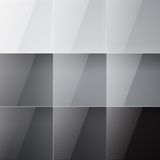 Gray shiny squares abstract background. RGB EPS 10 vector illustration Royalty Free Stock Photos