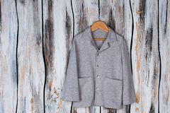 Gray shirt with pockets Stock Images