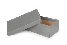 Gray shoe box Royalty Free Stock Photo
