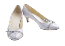 Gray shoes Stock Image