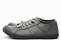 Gray Shoes - Side View Stock Images