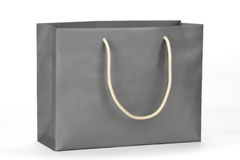 Gray shopping bag. Royalty Free Stock Images