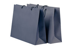 Gray shopping bags. Stock Photography