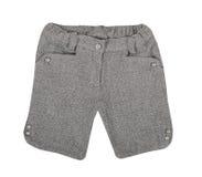 Gray shorts Royalty Free Stock Photo