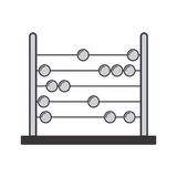 Gray silhouette abacus with base and spheres. Vector illustration Stock Photo