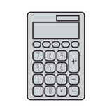 Gray silhouette tech with solar calculator pocket Royalty Free Stock Image