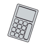 Gray silhouette tech with solar calculator pocket Stock Images