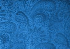 Gray or silver velvet fabric with a vintage elegant floral pattern or a luxury texture. Royalty Free Stock Photography
