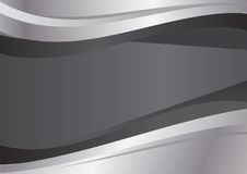 Gray and silver wave abstract vector background Royalty Free Stock Photography