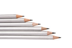 Gray simple pencil isolated Royalty Free Stock Photography