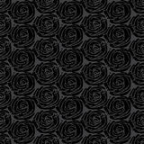 Gray simple rose pattern Royalty Free Stock Image