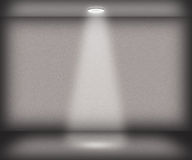Gray Single Spotlight Room Background Stock Image