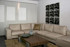 Gray sitting area royalty free stock image