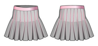 Gray skirt with pink elements Royalty Free Stock Photos