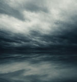 Gray sky reflected Royalty Free Stock Photos