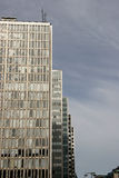Gray skyscrapers stock photography