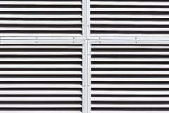 Gray slanted louvers Stock Image