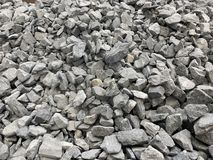 Gray small granite crumb, building material, simple background royalty free stock photo