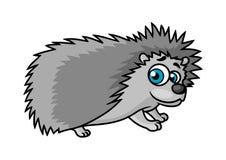 Gray smiling hedgehog character Stock Photo