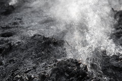 Gray smoke. From jungle after fire Royalty Free Stock Image