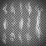 Gray smoke. Stock illustration. Set of gray smoke. Stock  image Stock Images