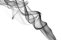 Gray smoke on the white background. Stock Images