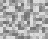Gray smooth and cracked tiles mosaic Royalty Free Stock Image