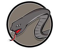 Gray Snake. Illustration of a snake inside a circle shape Stock Photography