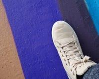 Gray sneaker Stock Photo