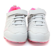 Gray sneakers Royalty Free Stock Image