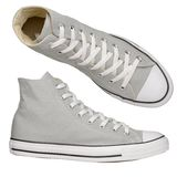 Gray sneakers Royalty Free Stock Photos