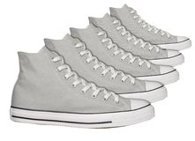 Gray sneakers Stock Photography