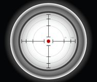 Gray sniper target Stock Photos