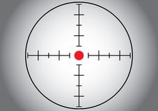 Gray sniper target. Royalty Free Stock Image