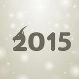 Gray 2015. Snow white background Royalty Free Stock Image