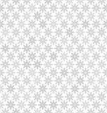 Gray snowflake pattern. Seamless vector background Royalty Free Stock Photo