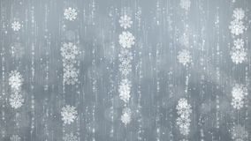 Gray Snowflakes Background stock video footage