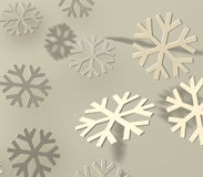 Gray snowflakes Stock Images