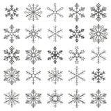 Gray Snowflakes White Background Photo stock