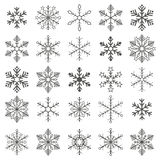 Gray Snowflakes White Background Stock Photo