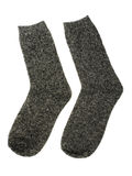 Gray socks. Isolated on a white background stock images