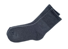 Gray socks Royalty Free Stock Photography