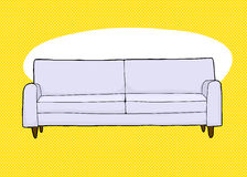 Gray Sofa Over Yellow Foto de archivo libre de regalías